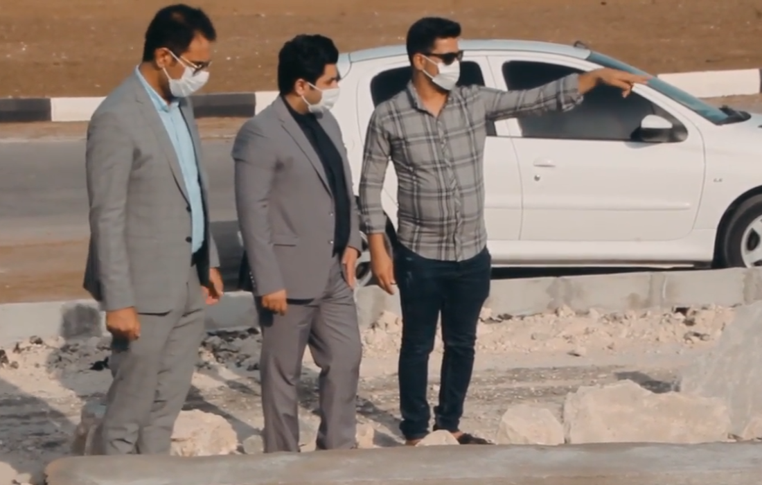 بازدید شهردار شهر قشم از پروژه پارک صیادان (دوحه) قشم + ویدیو