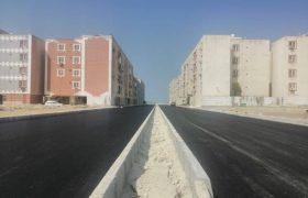 قطار آسفالت قشم از مسکن مهر به راه افتاد