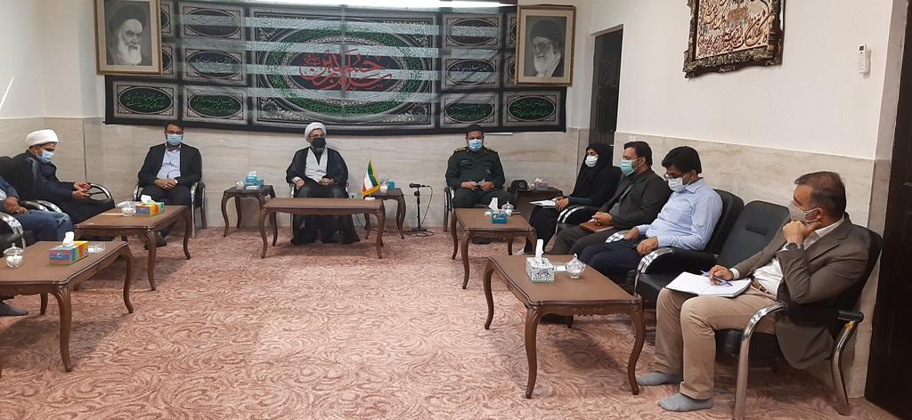 حضور سرپرست شهرداری و اعضای شورای شهر  در جلسه برنامه ریزی اربعین
